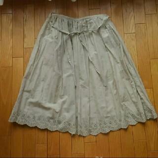 ベルメゾン(ベルメゾン)のBelle Maison レース フレアースカート 新品(ひざ丈スカート)
