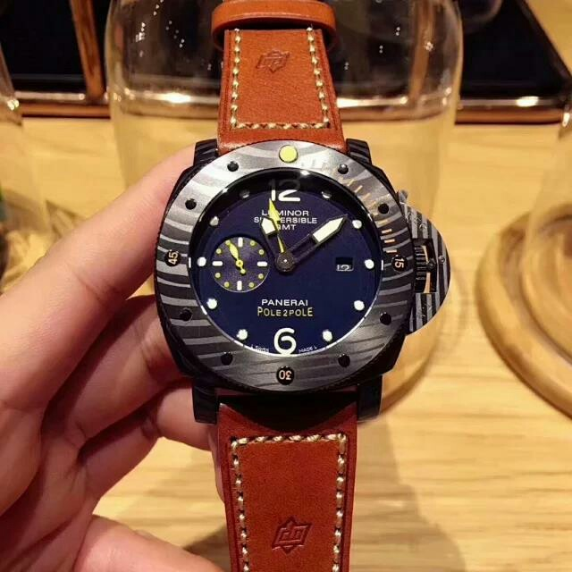 ウブロ 時計 偽物 見分け方ダミエ / OFFICINE PANERAI - 今季PANERAI(パネライ)ブラック文字盤 メンズ 腕時計の通販 by タニグチ's shop|オフィチーネパネライならラクマ