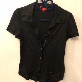 ヴィヴィアンウエストウッド(Vivienne Westwood)の黒カットソー(カットソー(半袖/袖なし))