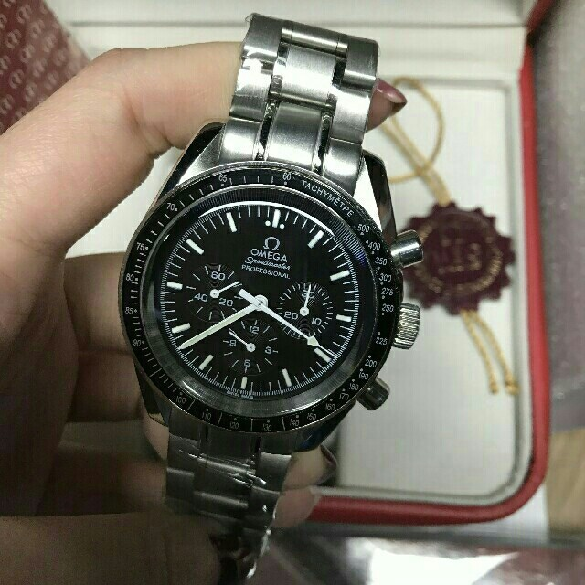 IWC コピー 名入れ無料 - OMEGA -  オメガ OMEGA スピードマスター デイト ブランド腕時計の通販 by えせな's shop|オメガならラクマ