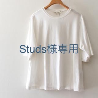 エンフォルド(ENFOLD)の専用です:美品◆ENFOLD◆スビン天竺 セットインフレアTシャツ 38(Tシャツ(半袖/袖なし))