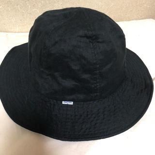 オーシバル(ORCIVAL)のオーチバル  リネン ハット 黒 美品(ハット)