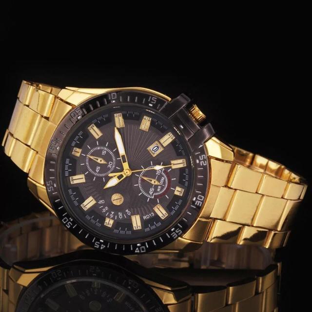再入荷!【 ゴールデン × ブラック】高級 メンズ 腕時計 黒 新品 人気 の通販 by 児玉さん家❁'s shop|ラクマ