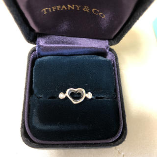 ティファニー(Tiffany & Co.)のティファニー   リング  pt ダイヤ付き(リング(指輪))
