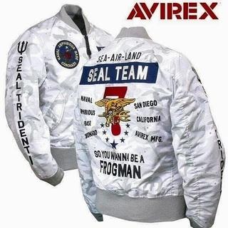 アヴィレックス(AVIREX)のAVIREX LIGHT MA-1 SEAL TEAM7 WHITE CAMO(フライトジャケット)