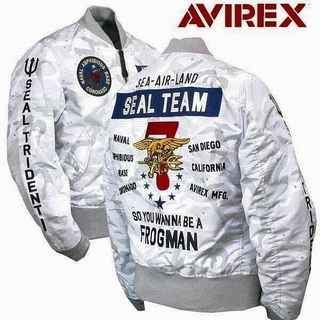 AVIREX - AVIREX LIGHT MA-1 SEAL TEAM7 WHITE CAMO