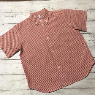 モンベル(mont bell)の【お値下げ中】 美品   ❁   モンベル  半袖 チェック  シャツ  120(Tシャツ/カットソー)