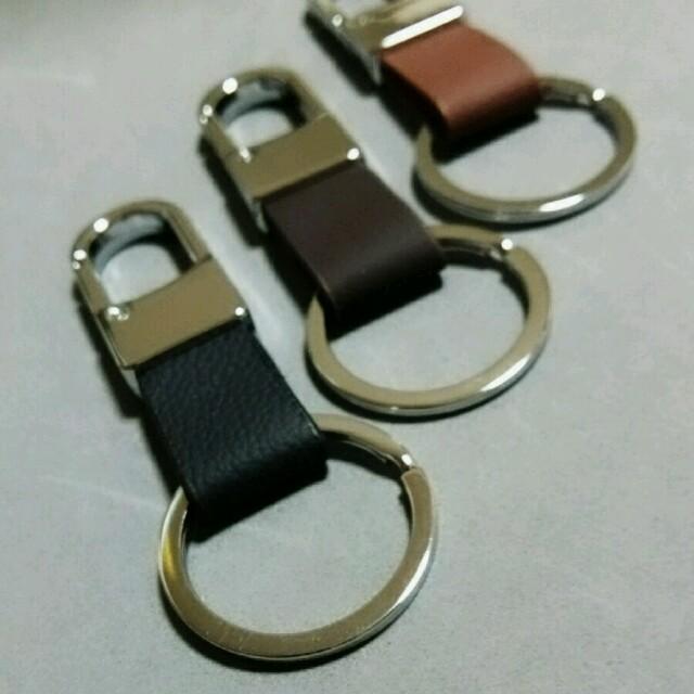 キーリング フック ブラック メンズのファッション小物(キーホルダー)の商品写真