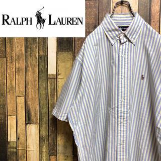 ラルフローレン(Ralph Lauren)の【激レア】ラルフローレン☆ワンポイント刺繍ロゴ入り半袖ストライプシャツ 90s(シャツ)