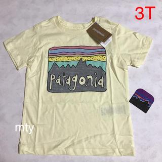パタゴニア(patagonia)の週末超特価!希望あればステッカーあり!新品☆パタゴニア キッズ Tシャツ 3T(Tシャツ/カットソー)