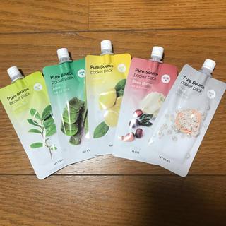 ミシャ(MISSHA)のMISSHA pocket pack 5種類(パック/フェイスマスク)