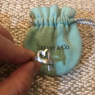 ティファニー(Tiffany & Co.)のティファニー 試着のみ美品 オープンハート リング 5号(リング(指輪))