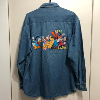 ディズニー(Disney)の超貴重! too cute disney デニムシャツ(Gジャン/デニムジャケット)