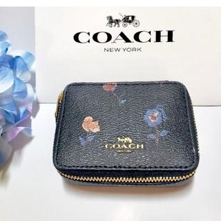 コーチ(COACH)のCOACH❤ピルケース 薬入れ 小物入れ 花柄 ブラック F57094(小物入れ)