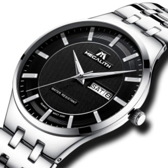 IWC 時計 コピー 人気 | 腕時計 メンズ時計ステンレス防水 アナログクオーツ腕時計 曜日付け 日付表示の通販 by ビシエド's shop|ラクマ