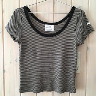 イエナ(IENA)のIENA◆chanteclaire フライスTシャツ 17SS◆ピンクベース(Tシャツ/カットソー(半袖/袖なし))