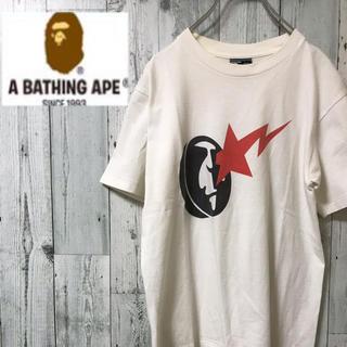 アベイシングエイプ(A BATHING APE)の激レア !! アベイシングエイプ 日本製 Tシャツ 古着 バックプリント(Tシャツ/カットソー(半袖/袖なし))
