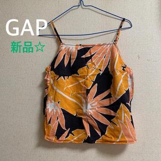 ギャップ(GAP)のギャップ 花柄キャミソール オレンジ(シャツ/ブラウス(半袖/袖なし))