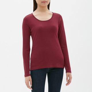 ジーユー(GU)のクルーネックT GU ジーユー 赤 レッド Sサイズ(Tシャツ(長袖/七分))