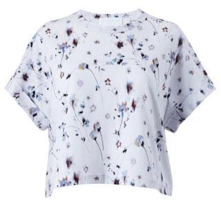 マメ(mame)のmame kurogouchi 花柄 クロップド Tシャツ 2017春夏(Tシャツ(半袖/袖なし))