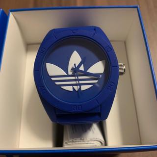 アディダス(adidas)のアディダス サンティアゴ 腕時計 ブルー【美品】(腕時計)
