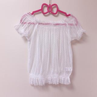 ジーユー(GU)のGU チュールトップス(シャツ/ブラウス(半袖/袖なし))