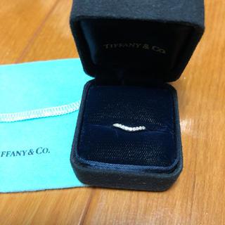 ティファニー(Tiffany & Co.)の超美品 ティファニー カーブバンドリング サイズ10号  (リング(指輪))