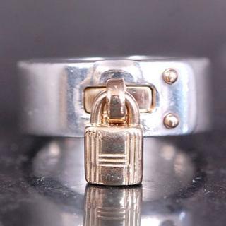 ティファニー(Tiffany & Co.)のHERMES エルメス リング ケリー コンビ カデナ SV 925  K18(リング(指輪))