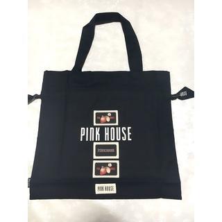 ピンクハウス(PINK HOUSE)のピンクハウス ロゴ&ワッペン付き巾着バッグ ノベルティ 黒(その他)