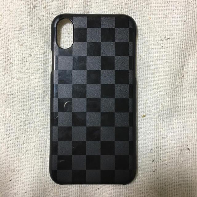 iPhone XRクリアブラックハードケースの通販 by めぐ's shop|ラクマ