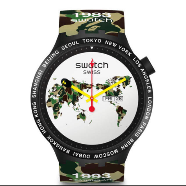 時計 ブランド オメガ 、 A BATHING APE - bape swatchの通販 by クーポン忘れずに!!|アベイシングエイプならラクマ