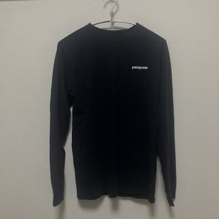 パタゴニア(patagonia)のPatagonia P-6ロゴ メンズ Mブラック Tシャツ(Tシャツ/カットソー(七分/長袖))