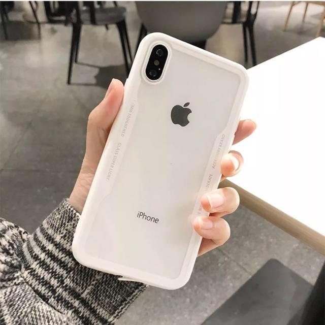 iPhoneケース ホワイト クリア おしゃれの通販 by ブラウンコニー 12/28〜1/5発送休|ラクマ