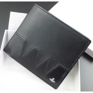 ヴィヴィアンウエストウッド(Vivienne Westwood)の送料無料★新品★箱付 ヴィヴィアンウエストウッド かぶせ 二つ折り財布 黒(折り財布)