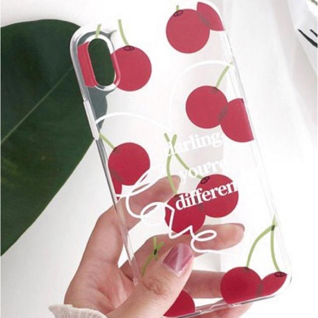 チェリープリントクリアーiPhoneXRケースの通販 by Dingle mobile mart|ラクマ