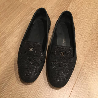 シャネル(CHANEL)のシャネル ローファー ラメ 36.5(ローファー/革靴)