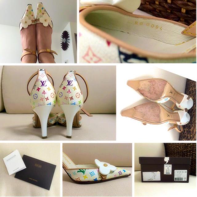 LOUIS VUITTON(ルイヴィトン)のマルチカラー オープンサイドパンプス レディースの靴/シューズ(ハイヒール/パンプス)の商品写真