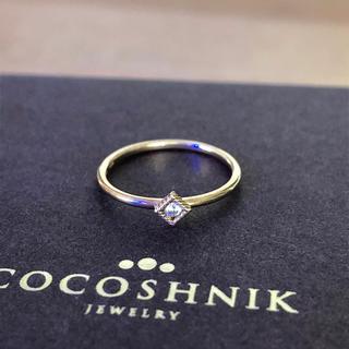 ココシュニック(COCOSHNIK)の♦︎ココシュニック♦︎  k10 ダイヤピンキーリング  5号(リング(指輪))
