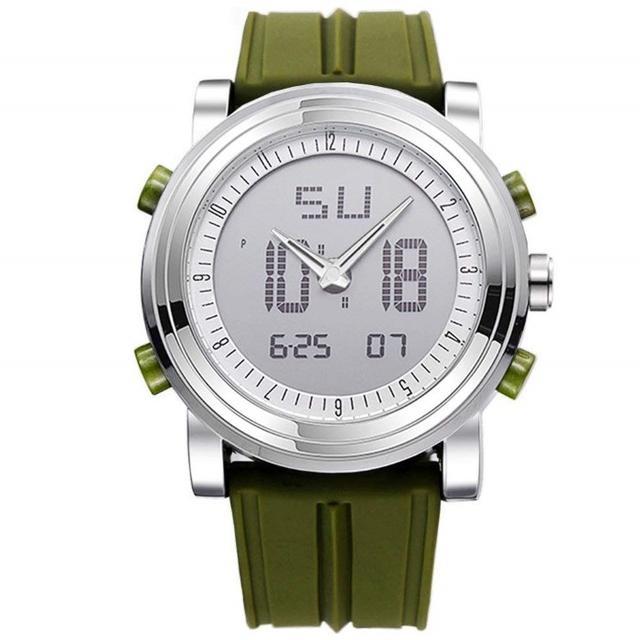 ☆数量限定☆ メンズ腕時計 スポーツ腕時計 LEDライトつき(グリーン)の通販 by ソウマッハ's shop|ラクマ