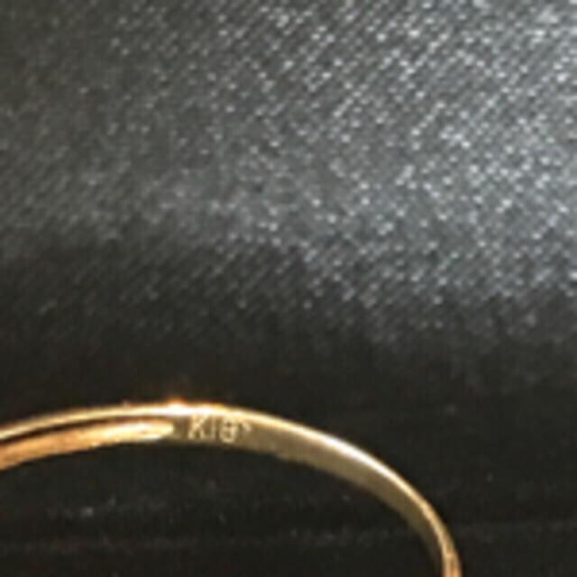 k18指輪/リング  ☆薄いパープル♡お花☆ レディースのアクセサリー(リング(指輪))の商品写真