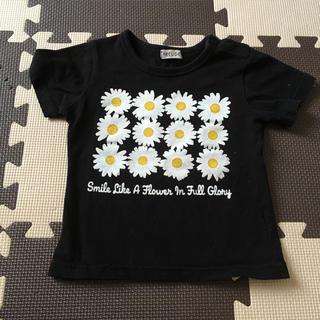 シマムラ(しまむら)の花柄プリントTシャツ首ボタン付き100(Tシャツ/カットソー)