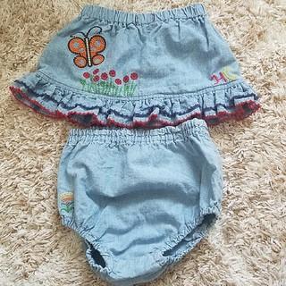 ヒステリックミニ(HYSTERIC MINI)のヒステリックベビー 刺繍スカート&パンツ(スカート)