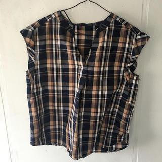 ジーユー(GU)のGU マドラスチェック スキッパーシャツ(シャツ/ブラウス(半袖/袖なし))