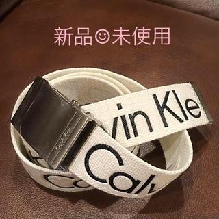 カルバンクライン(Calvin Klein)のカルバンクライン ☆ ベルト 白 ホワイト(ベルト)