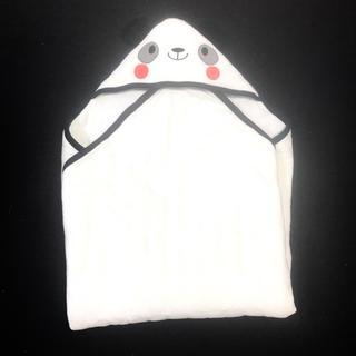 ニシマツヤ(西松屋)の美品 新品 おくるみ パンダ ホワイト ブラック キルティング(おくるみ/ブランケット)