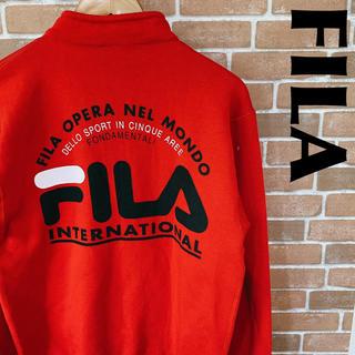 フィラ(FILA)のFILA フィラ スウェット ハーフジップ プルオーバー デカロゴ 0124(スウェット)