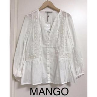 マンゴ(MANGO)のMANGO マンゴ ブラウス レースブラウス コットン100% (シャツ/ブラウス(長袖/七分))