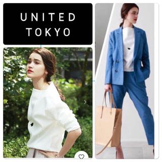 定価9千円程 UNITED TOKYO トップス ドロップショルダー (カットソー(長袖/七分))