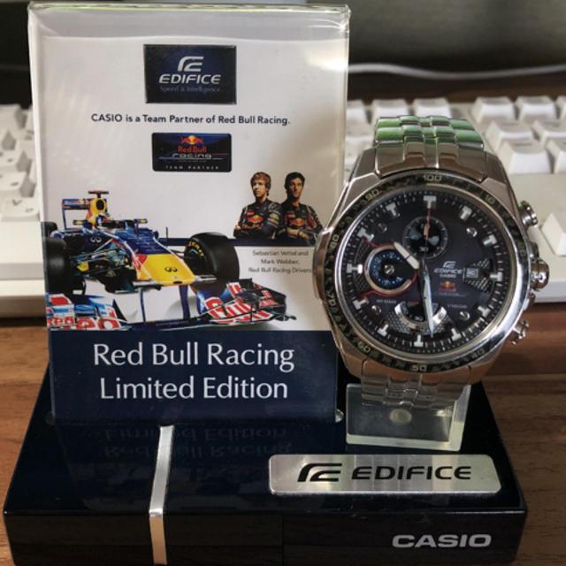 CASIO - カシオエディフィスレッドブルーレーシングリミテッドエディションの通販 by ユキチャン|カシオならラクマ