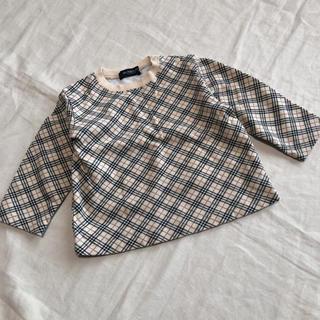 バーバリー(BURBERRY)のバーバリーロンドン ノバチェック 長袖カットソー 80(Tシャツ)